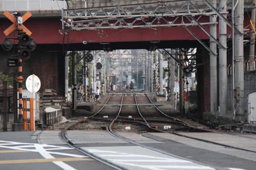 宮ノ下駅ホームが見える