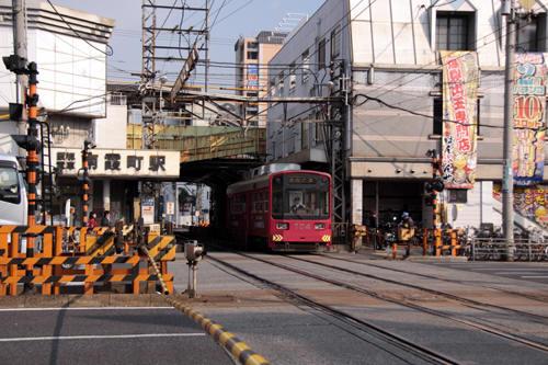 南霞町駅の様子