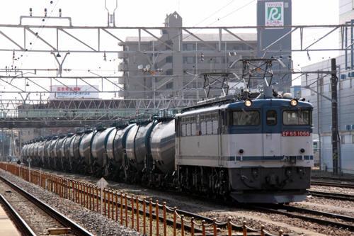 蘇我駅の3091列車のEF65 1066