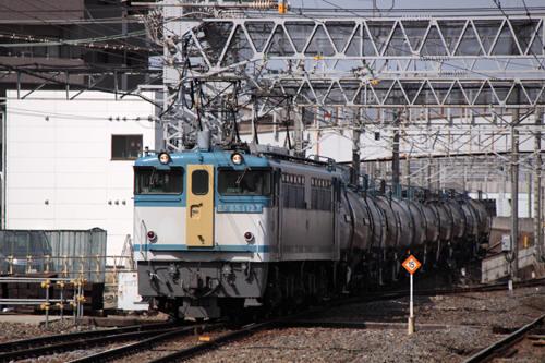 蘇我駅の8472列車のEF65 1127