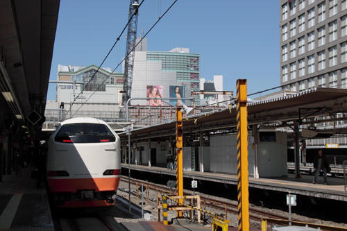 新宿駅の特急きぬがわ5号