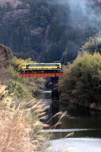 第八夷隅川橋梁を渡るいすみ202