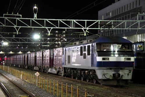蘇我駅の55列車のEF210-8