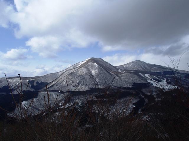 蘭山山頂から