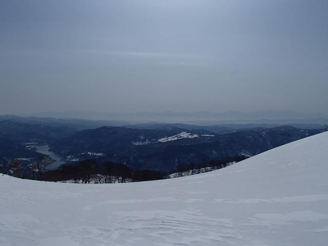 山形盆地は靄の中