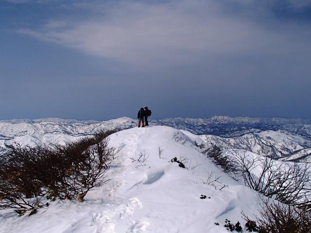 赤見堂岳山頂到達