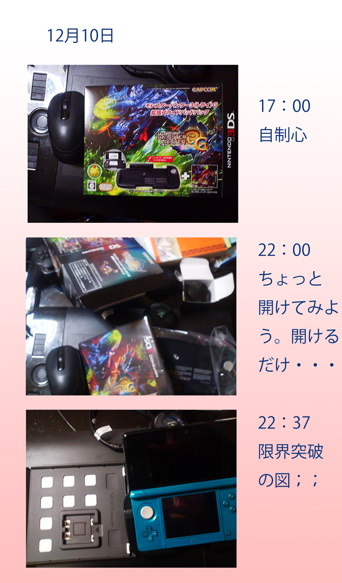 祝!!MH3G発売!!