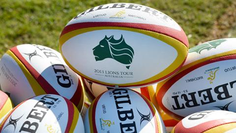 British-and-Irish-Lions-match-rugby-balls-are-placed-on-the-sideline-ahead-of-the-Wallabies-first-training-session-2013-GETTY-IMAGES (PSP)