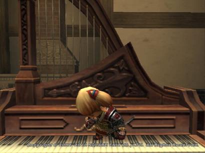 ピアノを足で弾くタルタル03