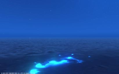 69日目 綺麗にゃ夜の海にゃ♪