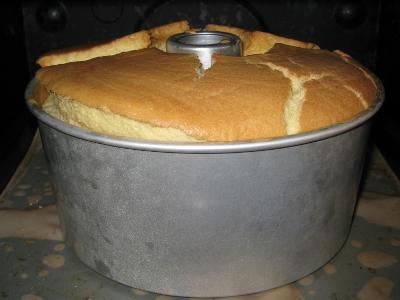 甘栗入りシフォンケーキ
