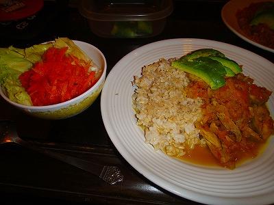 アボガドカレー&ニンジンサラダ