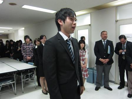 東日本航空専門学校の学生 挨拶