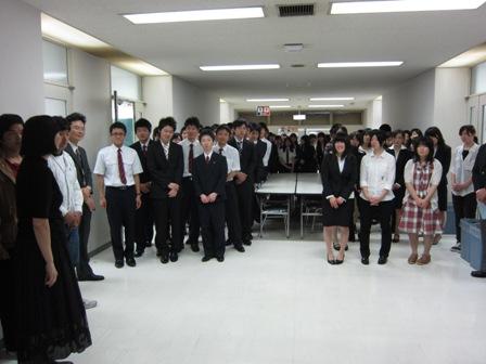 東日本航空専門学校の学生たち