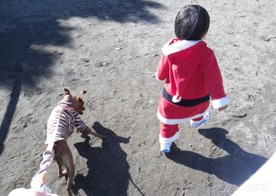 サンタさんと一緒♪