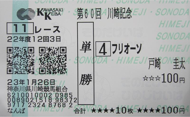 第60回 川崎記念・フリオーソ