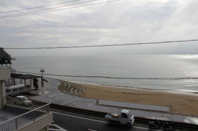 雨の小旅行。旅館からの風景
