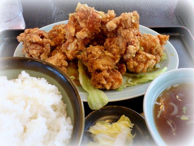 弘前 中華料理 みんぱい ユーリンチ定食 糸肉かけごはん