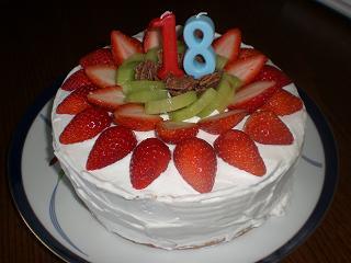 18歳 ケーキ