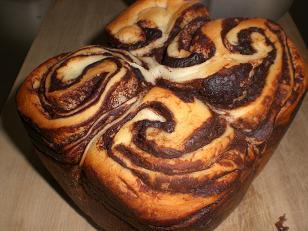 チョコ折り込みパン