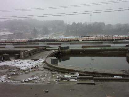 防災センター前の池