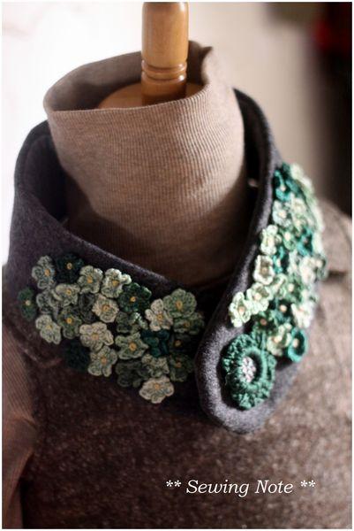 刺繍糸のマフラー