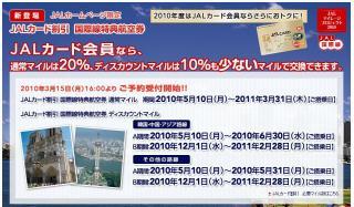JALカード割引国際線特典航空券