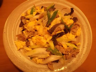 11.9ネギの生姜醤油炒め