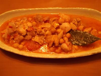 11.15鶏肉とひよこ豆の煮込み