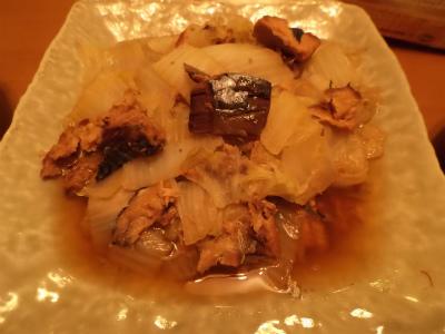 12.8白菜と鯖缶煮