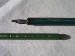 日本語用ペン先&TOMBOW鉛筆「F」