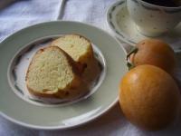 レモンピューレのケーキ