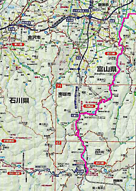 地図 白川郷~庄川峡
