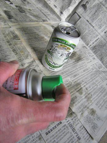 3-3ビール缶にもかけた