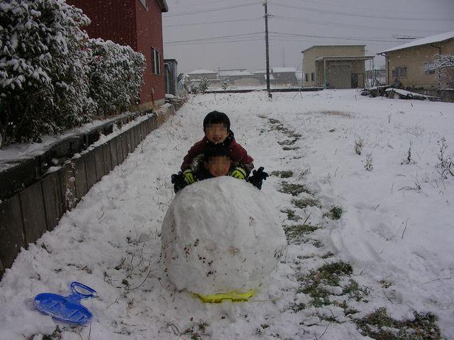 20110116雪だるま