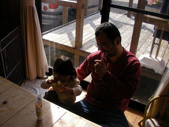 娘と歯磨き