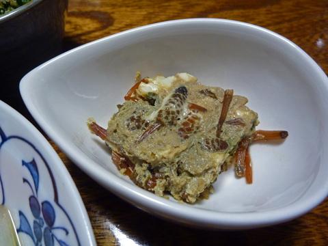 土筆の擬製豆腐風