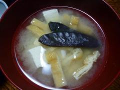 豆腐と揚げの味噌汁ツタンカ