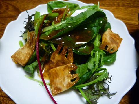焼筍のサラダ