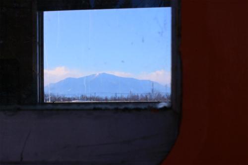 幸福駅、車窓から。