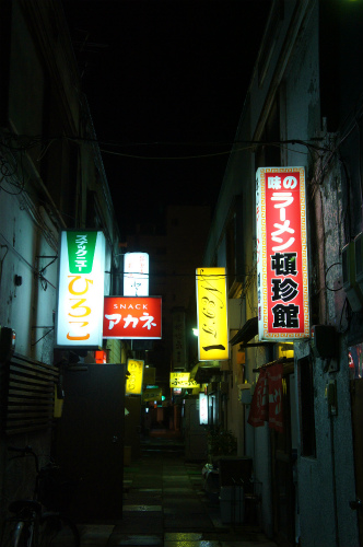 帯広の夜の街