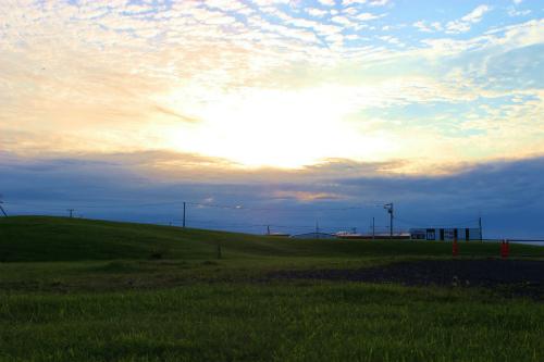 納沙布の夕日