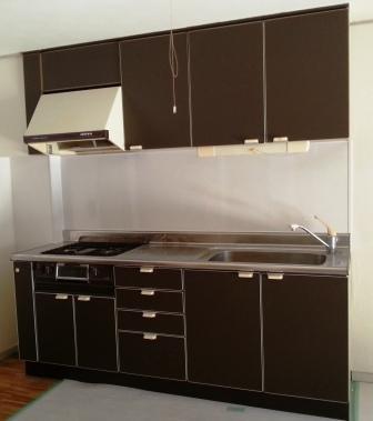 キッチンパネル施工完了