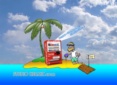 無人島1コマ漫画