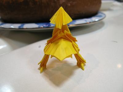 日本の伝統、折り紙チョコボ2