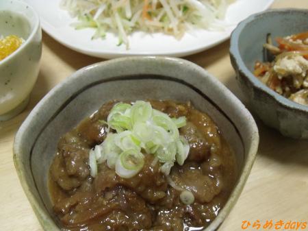 牛スジの味噌煮
