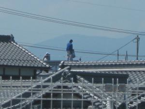 屋根葺作業