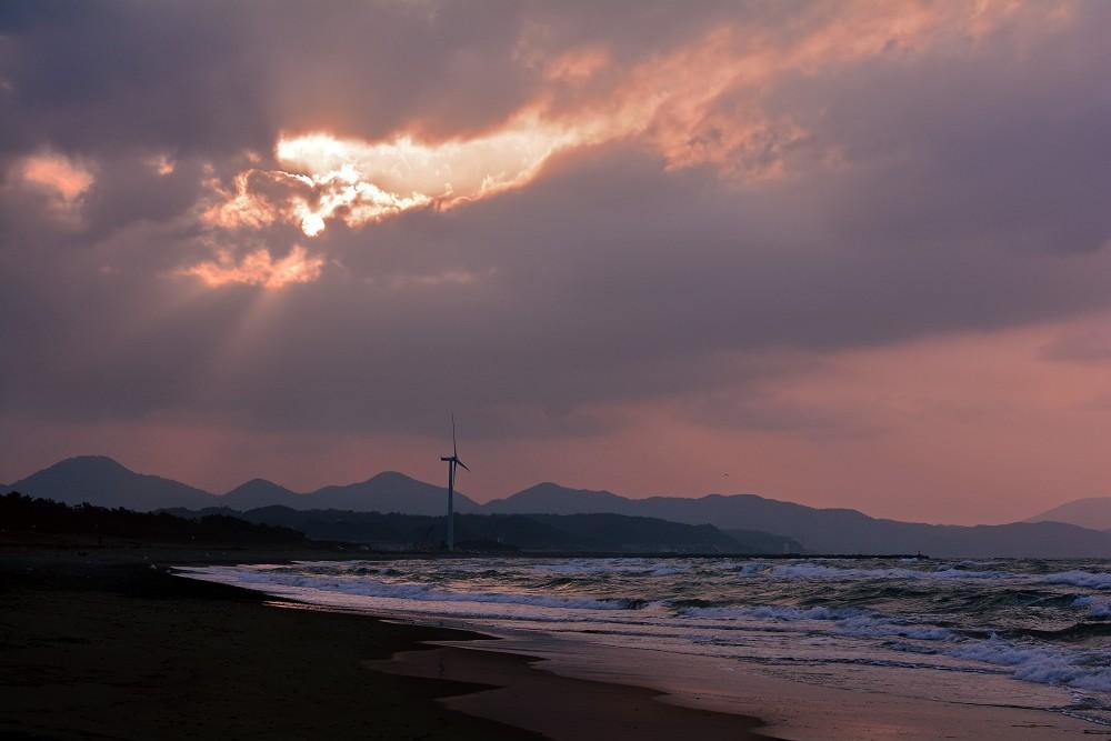 大塚海岸夕景