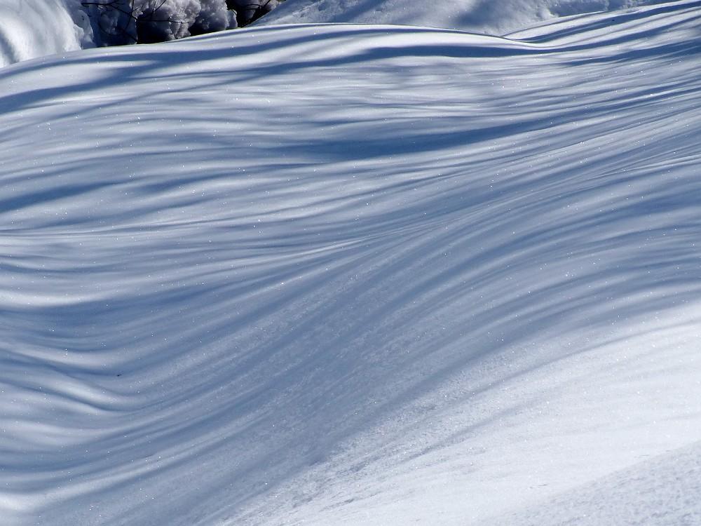 雪がキラキラ