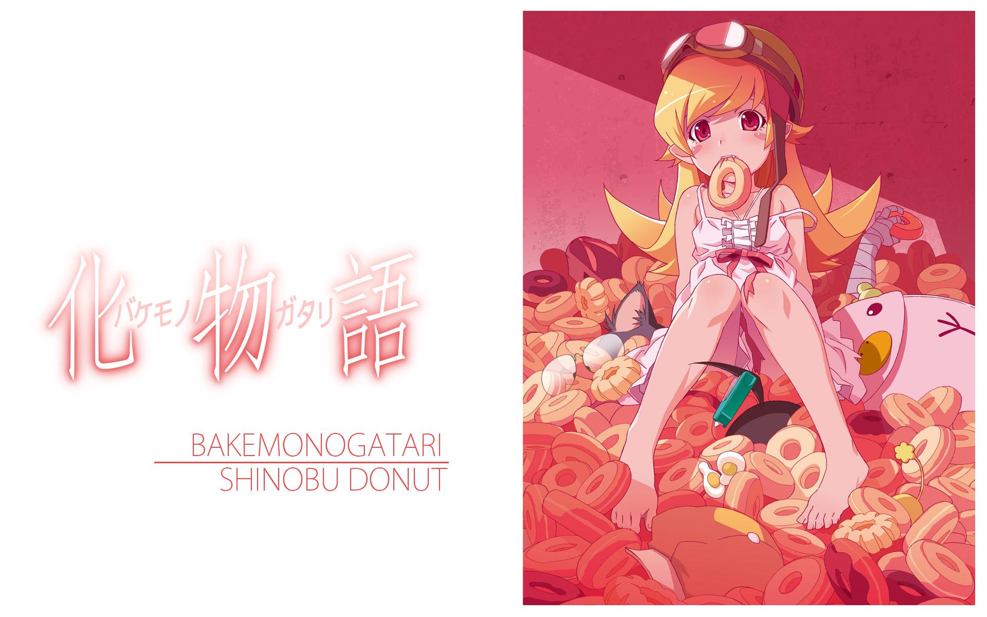 ピンク×ドーナツの忍野忍の壁紙